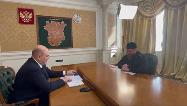 Кадыров подробно освещает визит премьер-министра Мишустина в Чечню