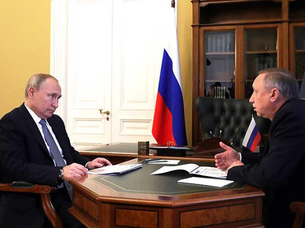 Владимир Путин обсудит развитие Петербурга с губернатором Александром Бегловым
