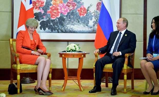 Англичанка обгадилась на встрече с Путиным