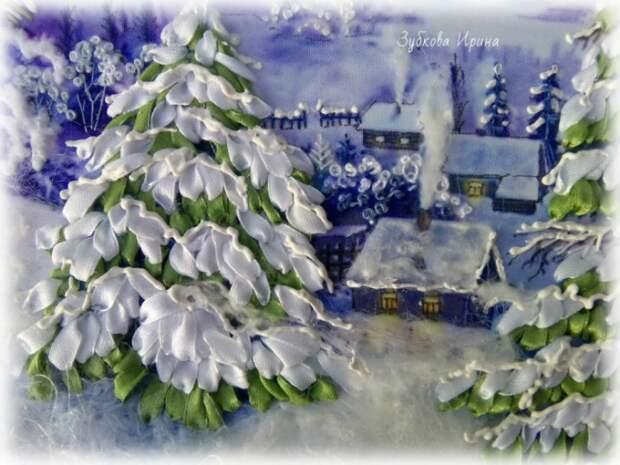 Зимняя объемная сюжетная вышивка: идеи для вдохновения