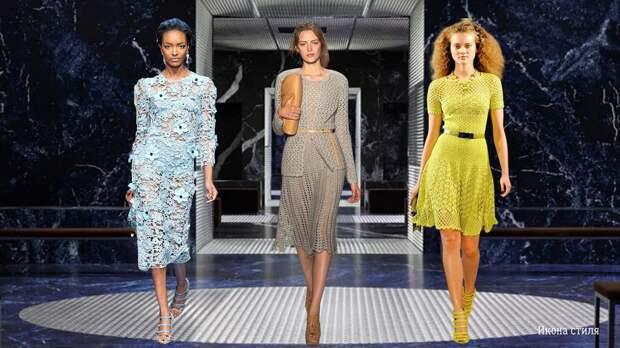 Ажурные вязаные ретро-платья снова в тренде весной 2021