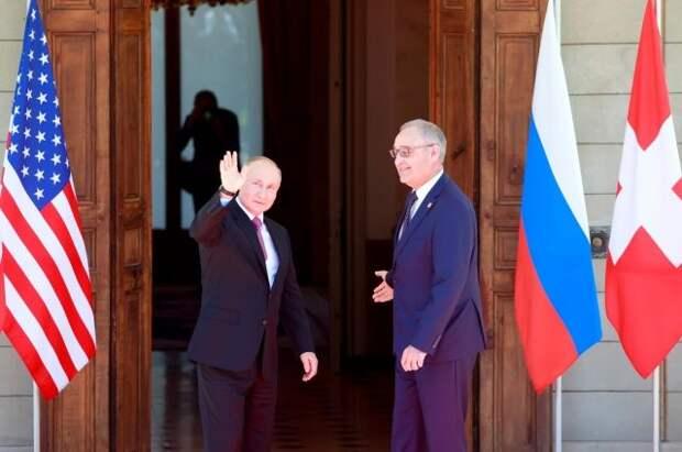 Путин прибыл на виллу Ла Гранж в Женеве