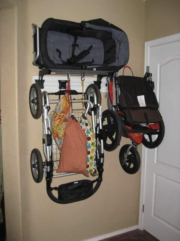 Компактное хранение колясок