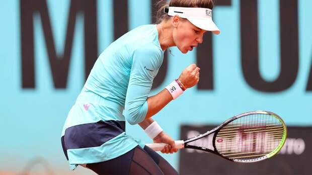 Кудерметова обыграла 10-ю ракетку мира Бертенс на турнире в Мадриде