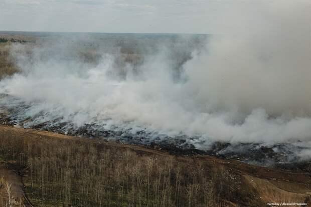 Как и почему горит мусорной полигон под Томском. Фото