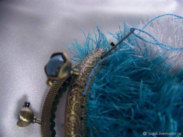 Вяжем кошелёк с фермуаром «Танцующие облака», фото № 14