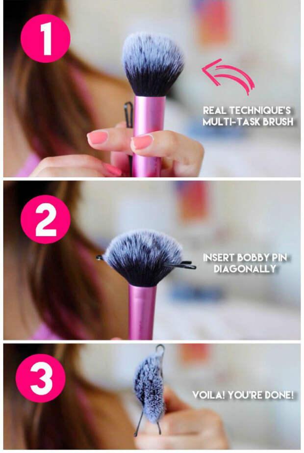 Трансформация кисточки для макияжа.