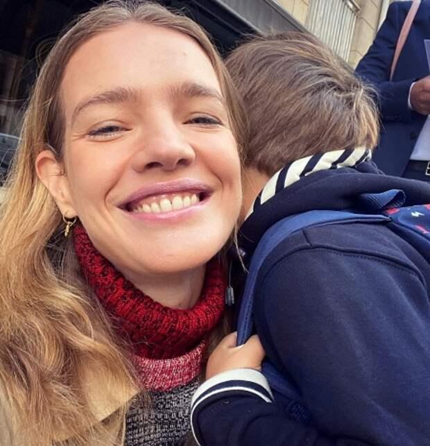 Наталья Водянова с сыном Ромой