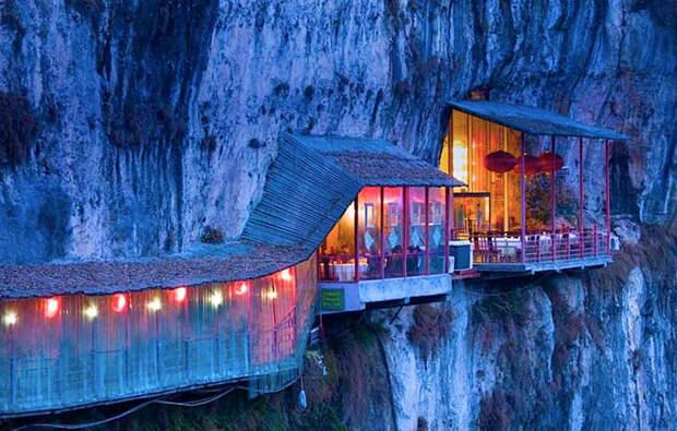 удивительный ресторан в Китае