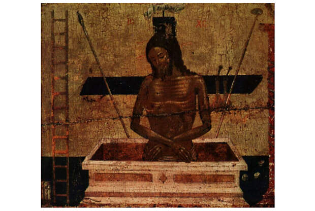 Положение головы и рук Спасителя в иконографии «Христос во гробе».