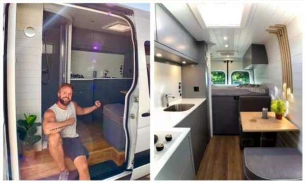 Уютный дом на колёсах из микроавтобуса Mercedes Sprinter