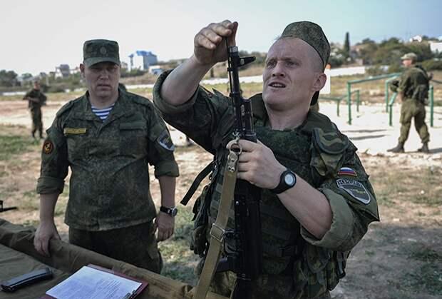 Российские морские пехотинцы в Крыму