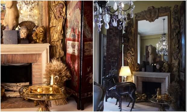 Причудливо-экзотическая обстановка отражает взгляды и пристрастия самой хозяйки квартиры (Париж, Франция). | Фото: vintage-dream-s.livejournal.com.