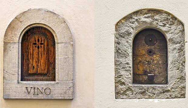 Для чего итальянцы в XVII веке придумали «винные окна», и Как чумная традиция возродилась в наши дни