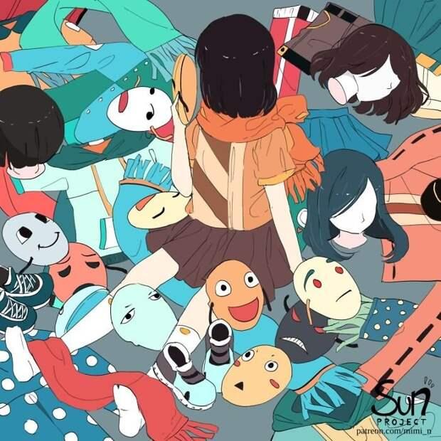 Аниме-художница из Индонезии изображает темную сторону общества