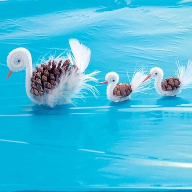 Идеи для творчества с детьми - зверушки из природных материалов