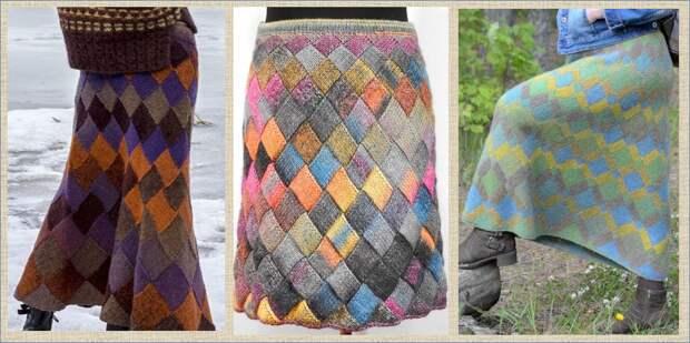 А может пора взять в руки спицы и связать зимнюю юбку?