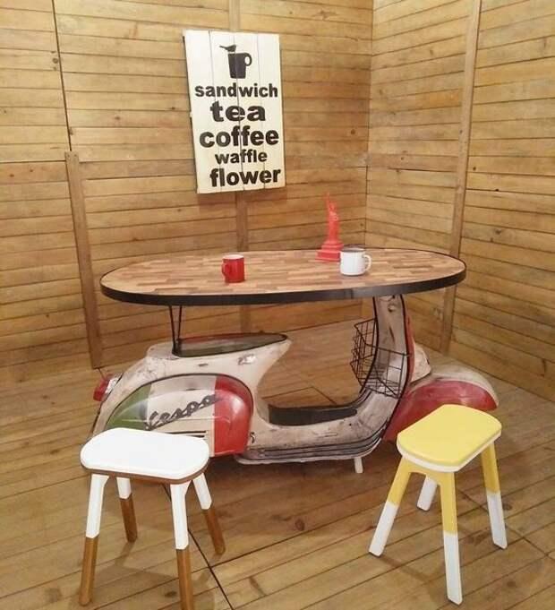 Мебель из скутеров (подборка)