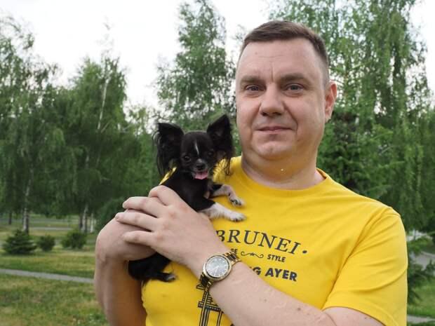 Евгений Топорец с рекордсменкой Беллой / Фото: Ольга Чумаченко