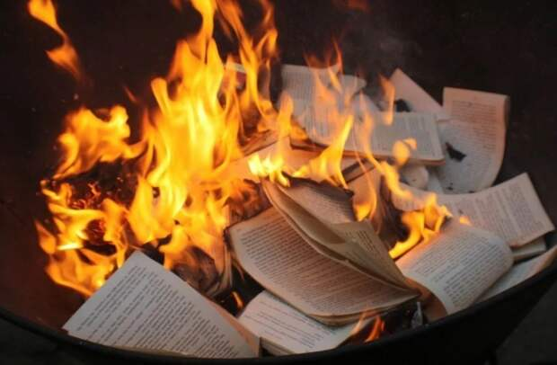 Американские безумцы начали жечь книги