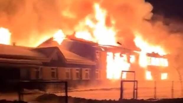 Документы детей восстановят после серьезного пожара в деревенской школе под Кировом