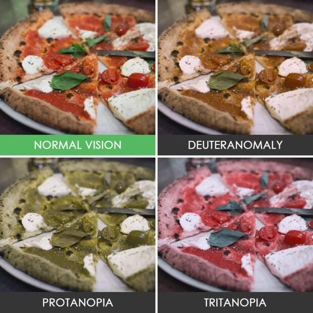 17. Пицца  дальтонизм, люди, мир