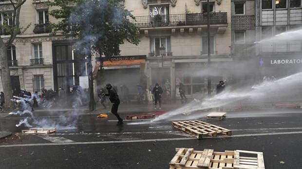 В Париже прошла демонстрация из-за обострения палестино-израильского конфликта