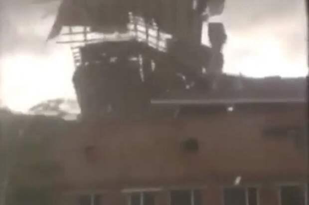 В Туве прошел сильный ураган