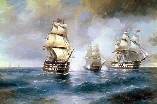 """Русские не сдаются: как бриг """"Меркурий"""" дал бой двум линейным кораблям"""
