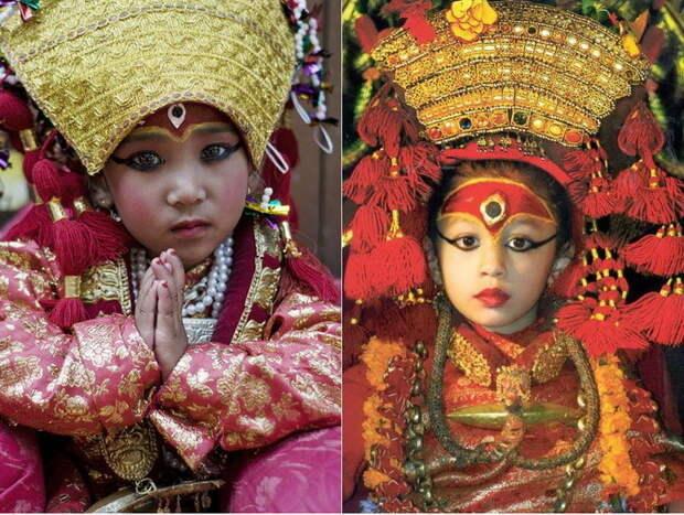 Кумари - непальские живые богини богини, девушки, непал