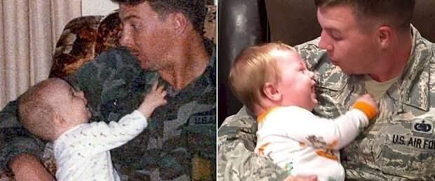 15. Яблочко (справа) от яблони (слева)... Они даже оба служили в ВВС! отцы и дети, прикол, фото