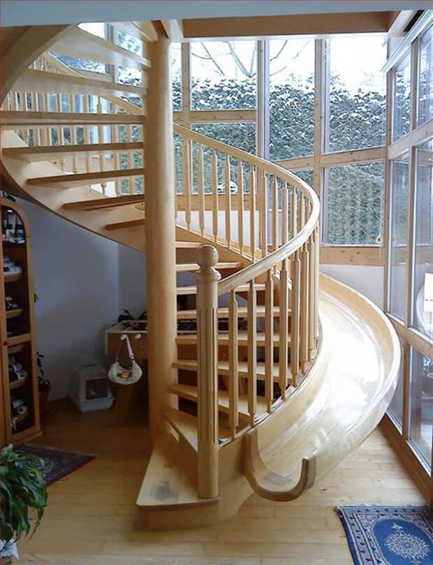 необычные лестницы на второй этаж