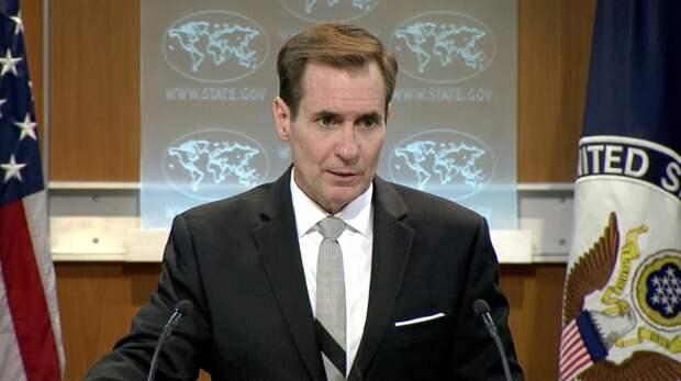 Официальный представитель Госдепа США Джон Кирби на брифинге для прессы.