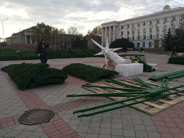 В Симферополе главную городскую ёлку установят и украсят до 19 декабря