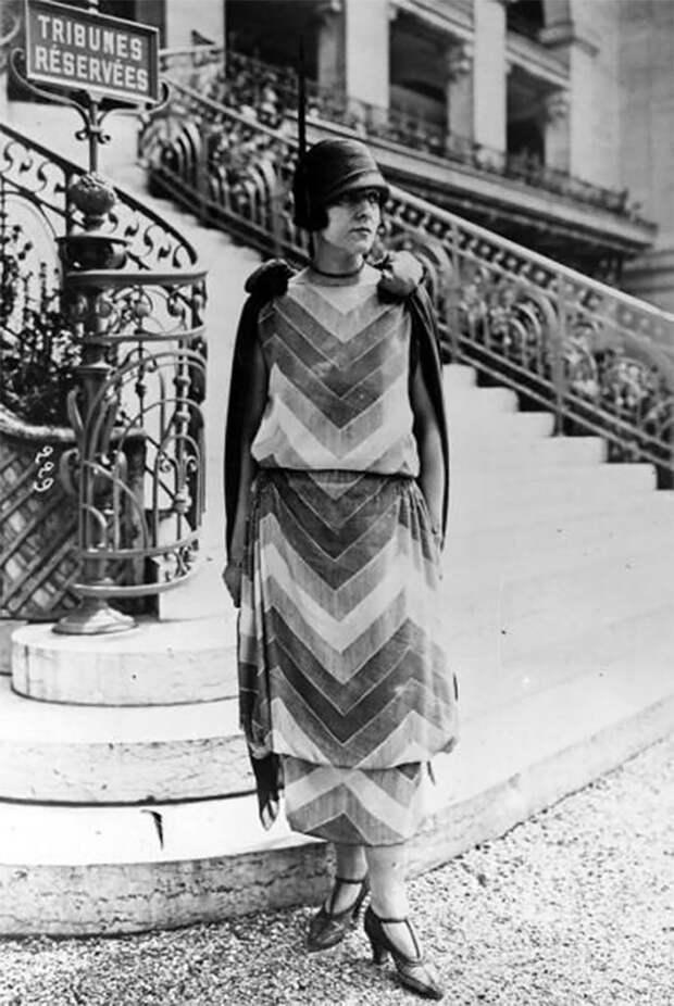 Париж, 1924 год Стиль, винтаж, двадцатые, женщина, мода, прошлое, улица, фотография