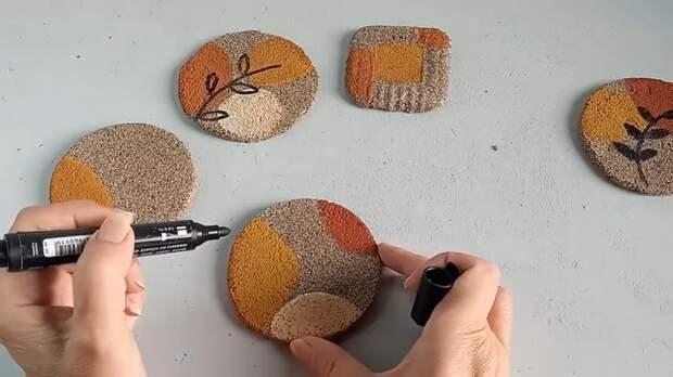 Соедините песок и ПВА что бы получить замечательные, полезные в быту изделия