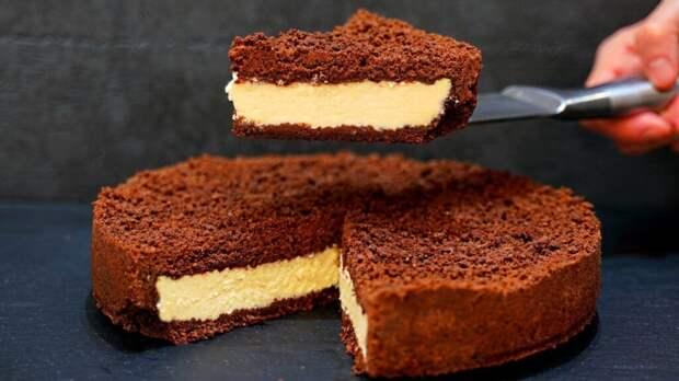 Рецепт простого и вкусного шоколадно-творожного пирога