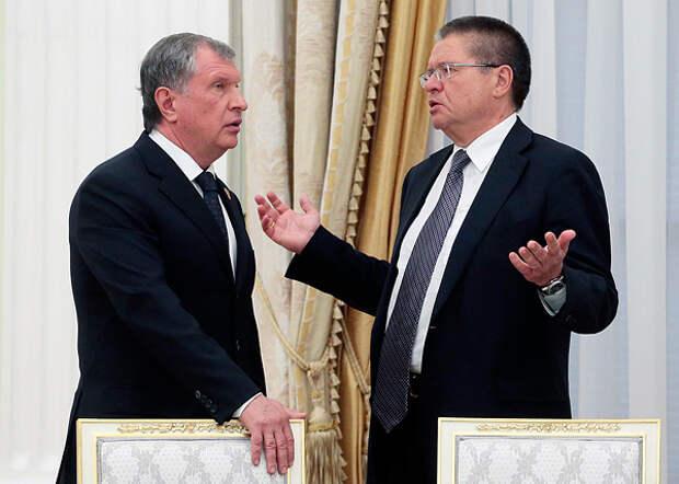 Игорь Сечин, Алексей Улюкаев|Фото: ТАСС