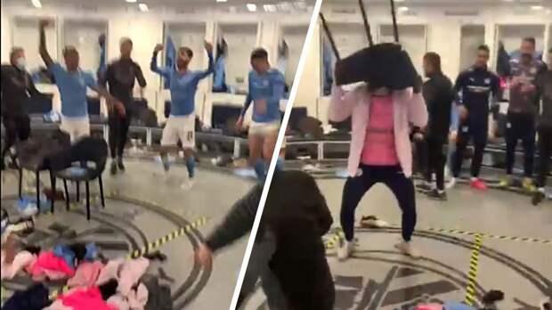 Футболисты «Манчестер Сити» устроили дикие танцы в раздевалке после выхода в финал ЛЧ. Эмоциональное видео
