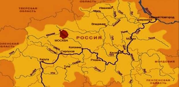 Карта расселения Рязано окцев