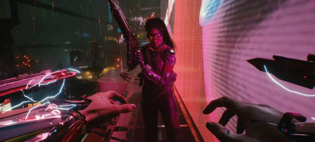 Энтузиаст работает над модом с бегом по стенам для Cyberpunk 2077