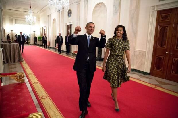 Барак Обама с супругой Мишель.