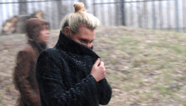 Жителям Подмосковья посоветовали быть осторожнее из‑за снега и сильного ветра