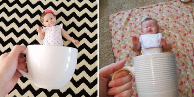 Детка в чашечке: ожидание и... дети, фото, юмор