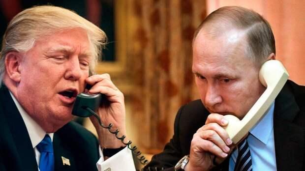 Путин пожаловался Трампу на Меркель и Макрона