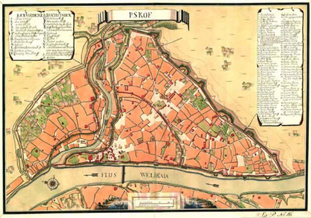 Старые планы российских городов из шведского архива