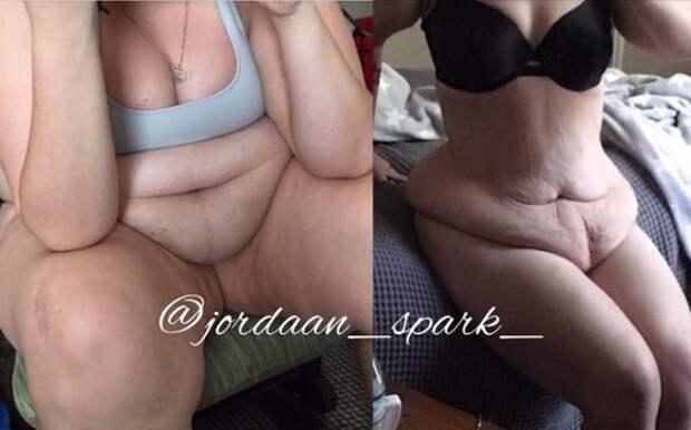 Девушка не стесняется выкладывать свои обнаженные фото в Инстаграм, показывая результаты, которых она добилась