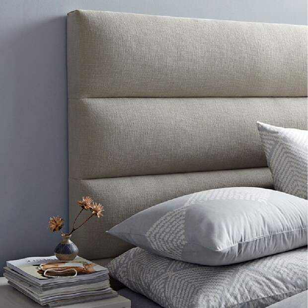 Кровать с мягким изголовьем: как эффектно сочетать практичность и оригинальность (112 фото)