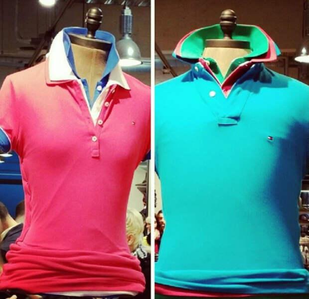 Многослойная разноцветная футболка поло. | Фото: Facts WT.