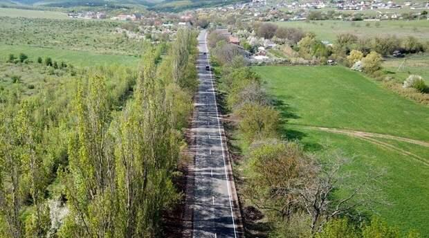 «ВАД» досрочно отремонтировал дорогу в горы в Симферопольском районе